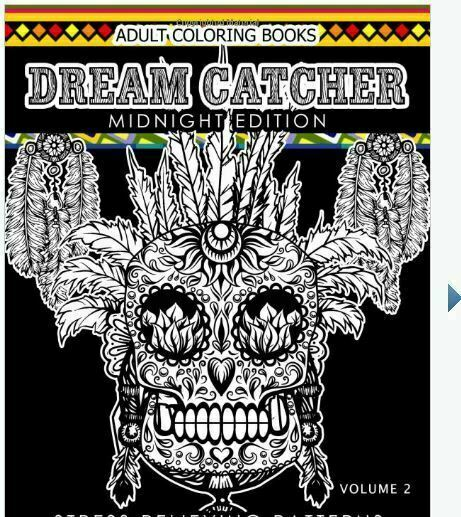 Midnight Edition Dream Catcher Ser.: Dream Catcher Coloring Book Midnight  Edition Vol. 2 : An Adult Coloring Book Of Beautiful Detailed Dream Catchers  With Stress Relieving Patterns (Pattern Coloring Books) By Dream