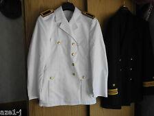 Größe L,sg 52 ( Für 1,90 m) Marine Uniformjacke weiß Schulterstücke Fasching WS1