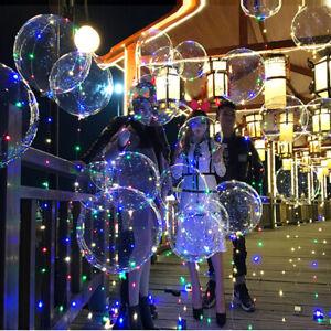 18-034-DEL-Light-Up-BALLONS-Transparent-Mariage-Anniversaire-Noel-Lumieres-De-Fete