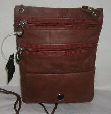 New Men/Women genuine Leather Messenger/Shoulder Bag Cross body belt Pack Small
