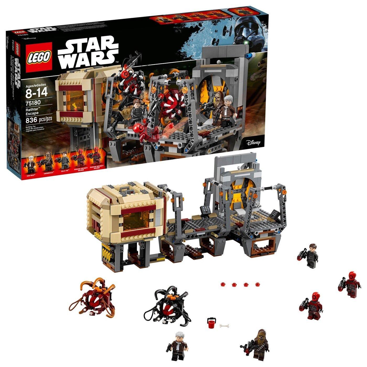 Neuf Lego 75180 Star Wars Rathtar Evasion Han Solo Chewbacca Bala-Tik