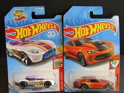 "/'18 COPO CAMARO SS /""Orange /& Blue/"" 1st 2019 Hot Wheels 2 Car LOT New Edition"