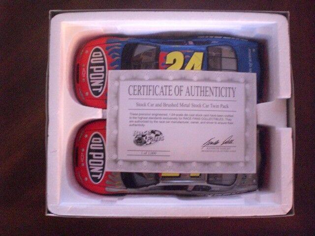 Jeff Gordon 2 AUTO Brookfield Set Coloreee Cromato 1 24  2000