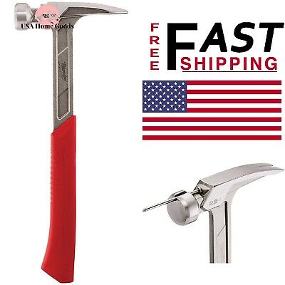 Milwaukee 22 oz Milled Face Framing Hammer with Anti Shock Grip /& Straight Claw