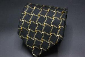 ROBERT-TALBOTT-Best-of-Class-Silk-Tie-Black-w-Brown-amp-Orange-Geometric