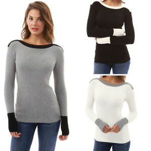 Womens-Winter-Long-Sleeve-Sweater-Blouse-Ladies-Sweatshirt-Jumper-Pullover-Tops