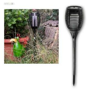 LED-Solar-Garden-Light-034-Flame-034-with-Ground-Spike-Effect-59cm-Torch
