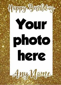 Image Is Loading Personalised Photo Card Birthday Any Name Age