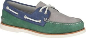Sperry-Top-Sider-Gold-Cup-2-Eye-Tri-Tone-Shoe-Men-s-Green-Navy-Grey-Leather