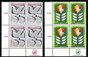 """UN / Vienna - 1980 35 years UN Mi. 12-13 Blocks/4 MNH - Enschede, Nederland - UN / Vienna - 1980 35 years UN Mi. 12-13 Blocks/4 MNH Click the button below to view more UN lots from our extensive offerings. After clicking select """"UN"""" in the blue side-bar on the left. Our lots start at just €0,25 Combine up to - Enschede, Nederland"""
