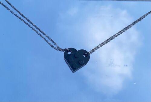 Halskette 2 Ketten mit Herz Neu lego herzkette Handgemacht Silberketten
