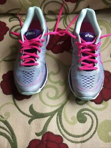 Asics Women's Shoe Size 6 1/2 Us Gel Kayano 23 Silver/pink Running Shoes T697n Athletic Shoes