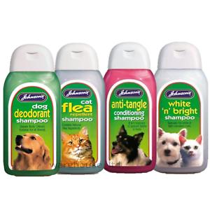 Johnsons-Shampoo-For-Dog-Puppy-Kitten-Cat-Wash-Flea-Deodorant-Full-Range