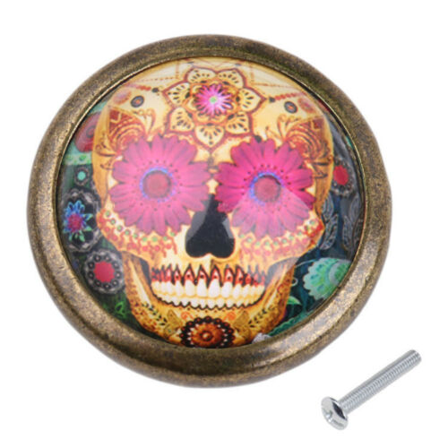 Retro Skull Drawer Cabinet Handle Cupboard Door Window Kitchen Pull Knob #12