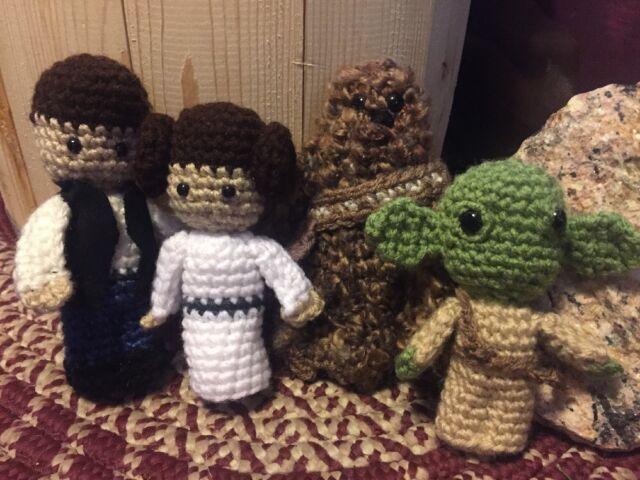 Amigurumi Star Wars : Star wars inspired crochet dolls collection on ebay