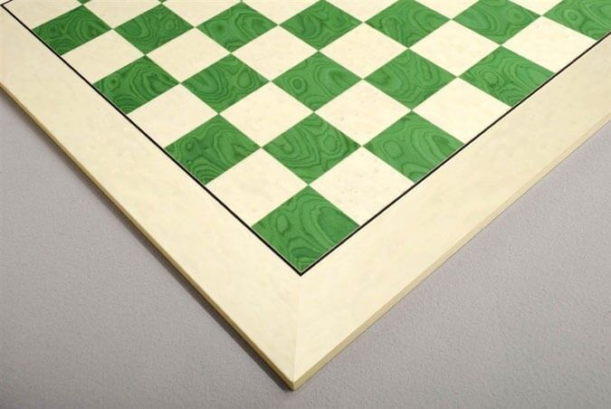 Bird's  Eye Maple & vertbois Standard Traditional Chess Board - 3.0   commandez maintenant profitez de gros rabais