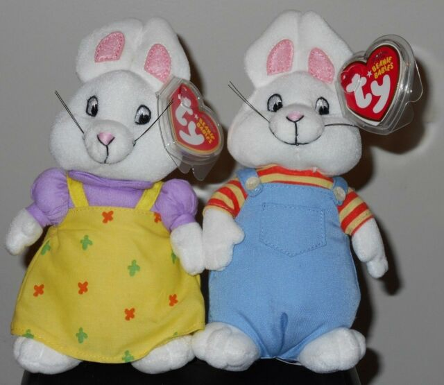 Ty Beanie Baby Babies Max   Ruby With Tags Plush Stuffed Toy for ... c1297044455a