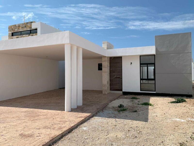 Casa de una planta en Preventa en Privada Residencial Botanico Conkal Yucatan