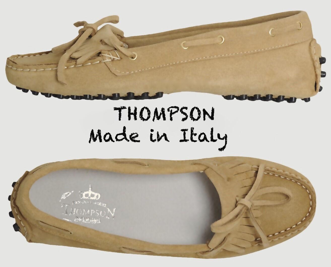 Nuevo  210 210 210 Thompson hecho a mano en Italia ante de imitación Mocasines. tamaño US8 EU38  mejor calidad