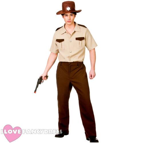 US SHERIFF COSTUME HALLOWEEN FANCY DRESS AMERICAN COP POLICE OFFICER POLICEMAN
