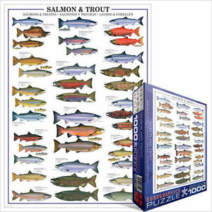 Eurographics Puzzle 1000 Piece - Salmon and Trout Jigsaw puzzle EG60000311