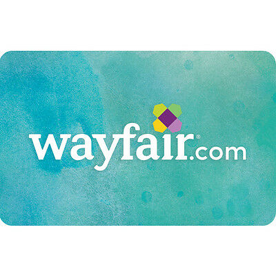 Wayfair.com Gift Card - $25 $50 or $100 - Email delivery