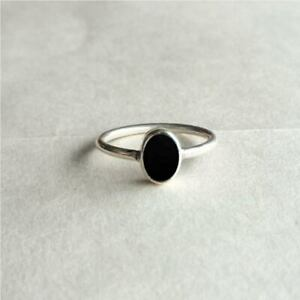 Black Onyx Ring 925 Sterling Silver Ring Handmade Ring Worry Ring All Size KA-48