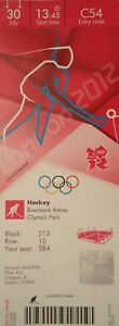 mint TICKET Olympia 30.7.2012 Men/'s Hockey Spanien Pakistan C54