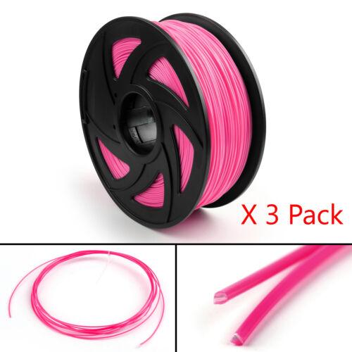 3 Pack 3D Printer Filament 1.75mm ABS PLA TPU PETG For Drawing Print Pen 1KG USA