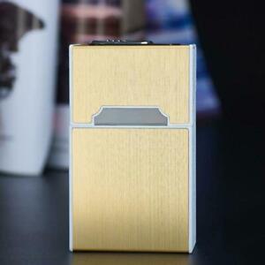 20-sticks-Automatische-Zigarettenetui-mit-winddichtem-Feuerzeug-Boxhalter-B-S5N0