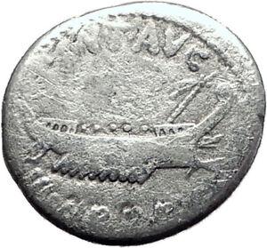 MARK-ANTONY-Cleopatra-Lover-32BC-Authentic-Ancient-Silver-Roman-Coin-SHIP-i64867