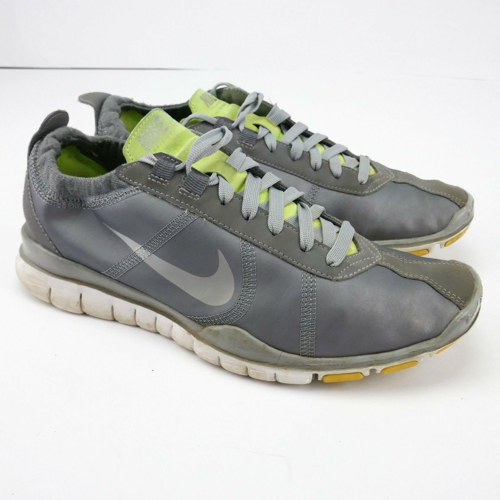 Nike free twist womens sz running 7 sneakers lightweight running sz shoes metallic grey 4f3684