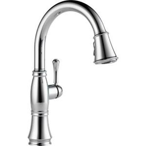Delta-9197-DST-Cassidy-Single-Handle-Pull-Down-Sprayer-Kitchen-Faucet-in-Chrome
