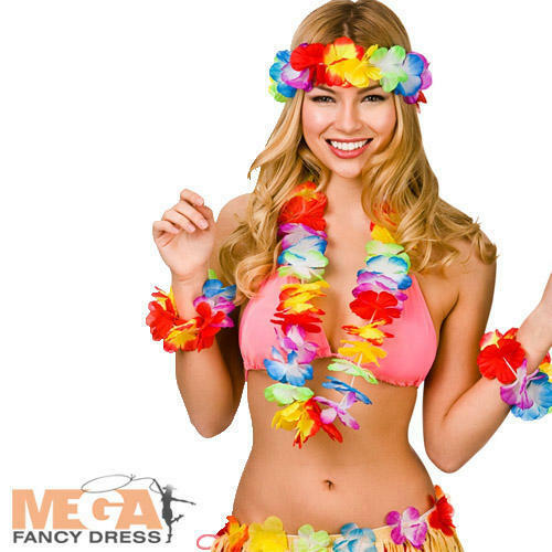 Aloha Hawaiana Set Adulti Costume Hawaii Hula Spiaggia Luau Costume Accessori