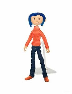 """NECA CORALINE-ARTICULATED FIGURE IN STRIPED SHIRT /& 8/"""" PHUNNY PLUSH DOLL NEW"""