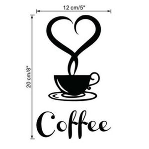 Image Is Loading Coffee Shop Restaurant Wall Decor Decals Kitchen Removable