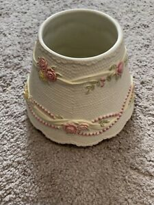 Yankee-Candle-Medium-Large-Jar-Shade-Pink-White-Lace-Pearls-Roses