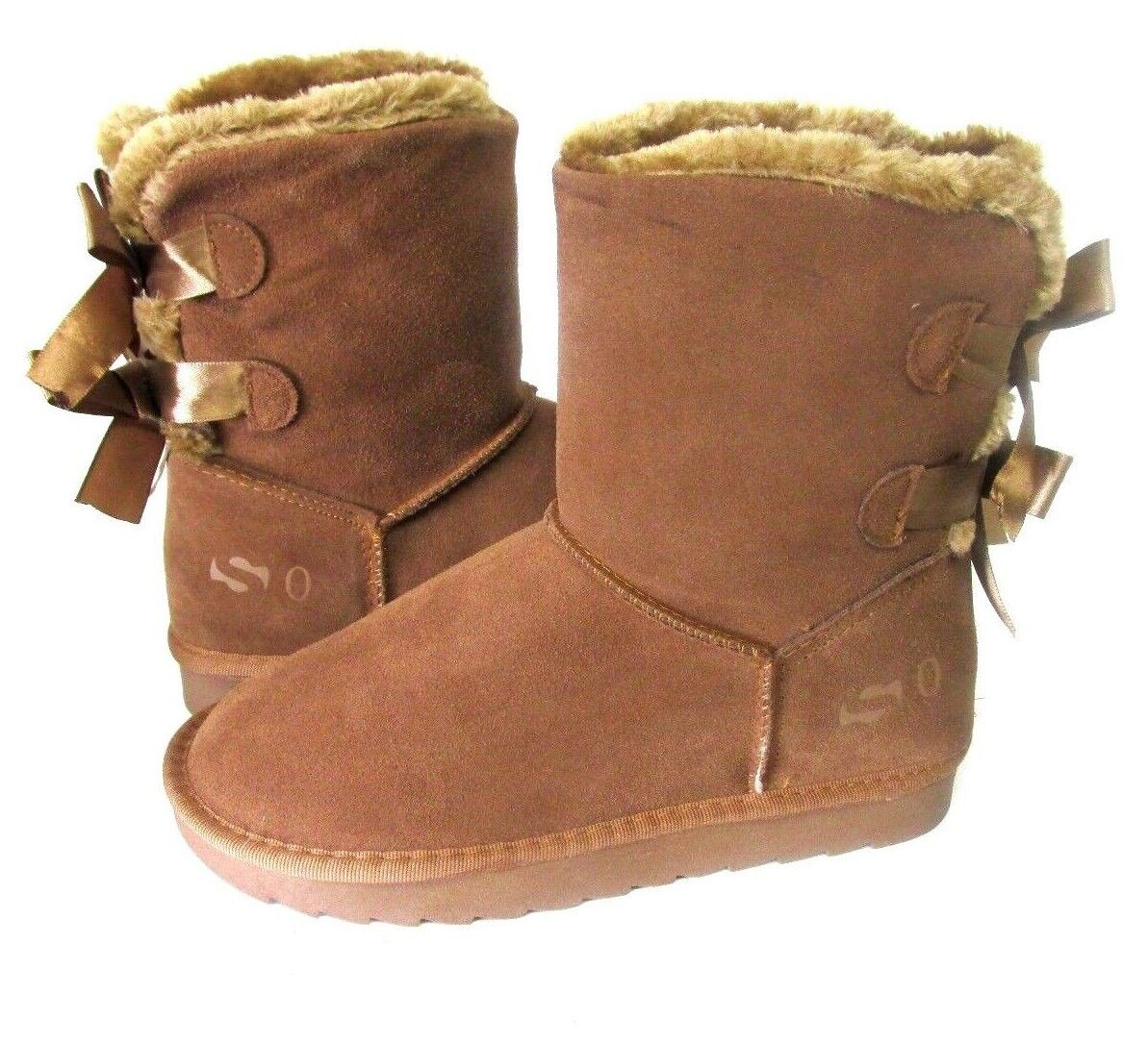 NEW WOMEN SO BRAND CLASSIC TOW BOWS BOOT TAN 3451 ORIGINAL
