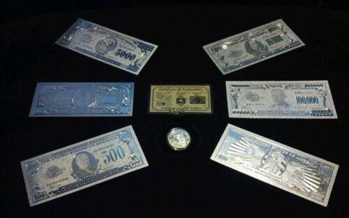 ~BRANDNEW 16Pc.LOT~.999 FINE SILVER $1-$1 MILLION+COIN+SILVER FLAKE~w
