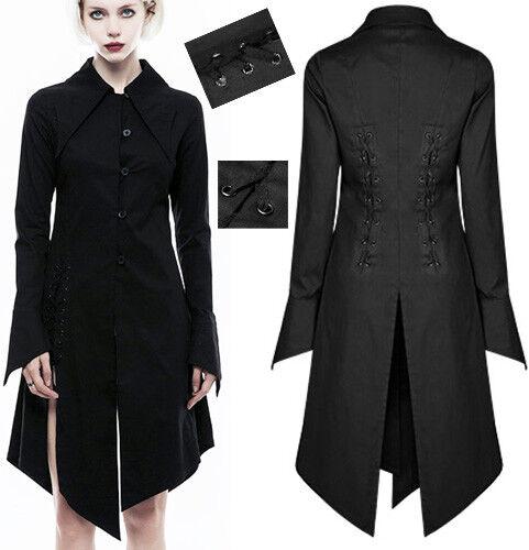 Chemise robe gothique punk lolita point de suture laçage fentes Japon Punkrave N