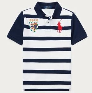 NWT-POLO-RALPH-LAUREN-TODDLER-BOYS-BIG-PONY-LION-STRIPED-RUGBY-SHIRT-NAVY
