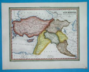 Details about 1846 ANTIQUE MAP MIDDLE EAST ARMENIA SYRIA PALESTINE TURKEY  CYPRUS JORDAN IRAQ