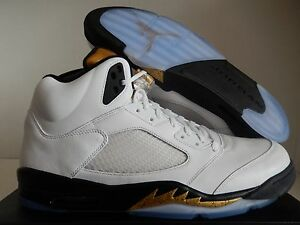 uk availability d9c61 dc00c Image is loading NIKE-AIR-JORDAN-5-RETRO-WHITE-BLACK-METALLIC-