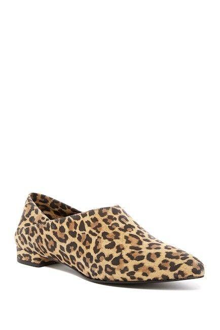 Ivy Kirzhner Pan Pointed Toe Toe Toe Flat Cheetah Leopard Pony Hair Pointed Toe Pump 721649
