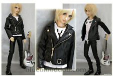 1/3 BJD 70cm male doll outfits black leather jacket luts SSDF Loongsoul ship US