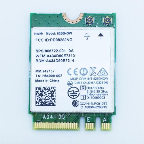 Intel Dual Band Wireless-AC 8260 8260NGW 802.11ac 2x2 Wifi+BT4.2 Card vPro NGFF