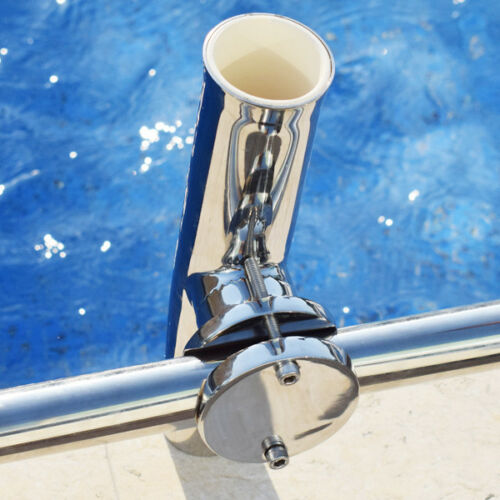 """1X Adjustable Tournament Style Clamp On Fishing Rod Holder for Rail 1-1//4/"""" to 2/"""""""