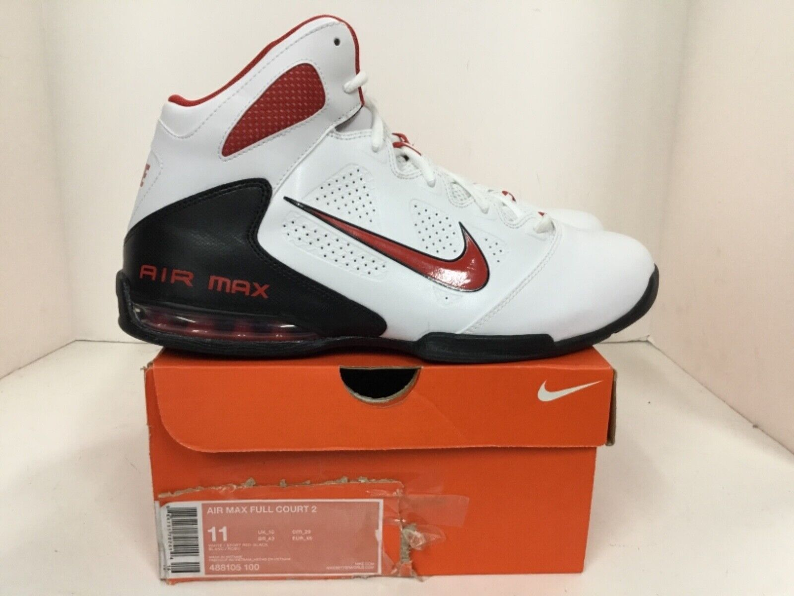 Nike Air Max Full Court 2 Mens Style  488105 100 Size 11