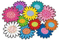 Blumen Aufkleber Hippie Blumen Auto Aufkleber: Mini 13 - 51 Stk. - bunt gemischt
