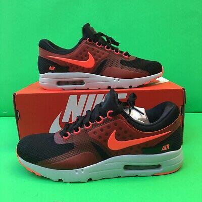 Nike Air Max Zero Essential Black Bright Crimson Red 876070 007 Select Size | eBay